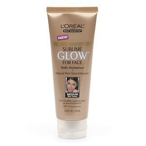 L'Oreal Sublime Glow Daily Moisturizer and Natural Skin Tone Enhancer Medium Skin Tones