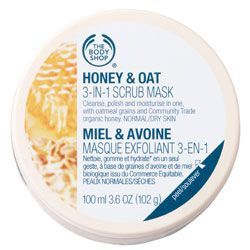 The Body Shop Honey & Oat 3-in-1 Scrub Mask