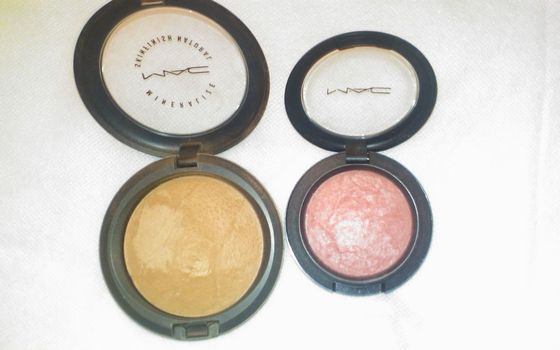 MAC mineralize Skinfinish Dark and Blush Superdupe (Uploaded by KyraB)