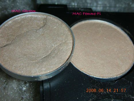 MAC Shroom vs. MAC Femme-Fi (Uploaded by trulylovely)
