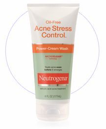 oil free acne stress control power cream wash