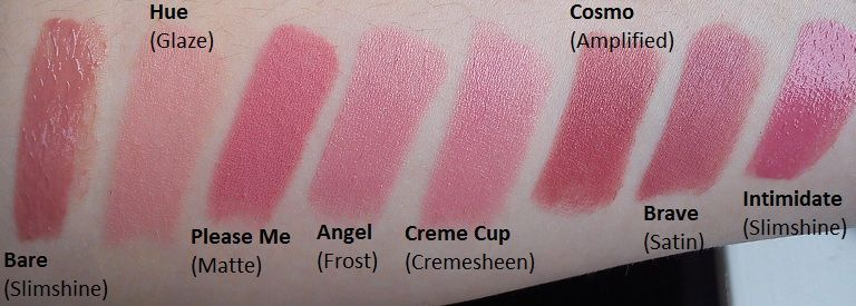 MAC pink lipstick comparisons (Uploaded by supersophie)