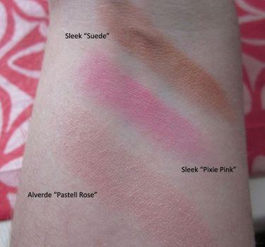 Sleek Suede & Pixie Pink & Alverde Pastell Rose (Uploaded by aubloomiel)