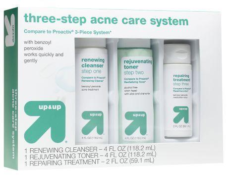 Three-step acne care system