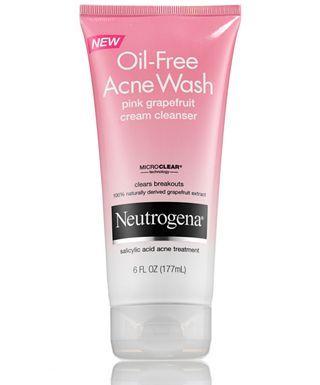 Oil-Free Acne Wash Pink Grapefruit Cream Cleanser