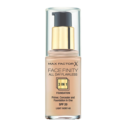 Facefinity All Day Flawless 3 In 1 Liquid Foundation