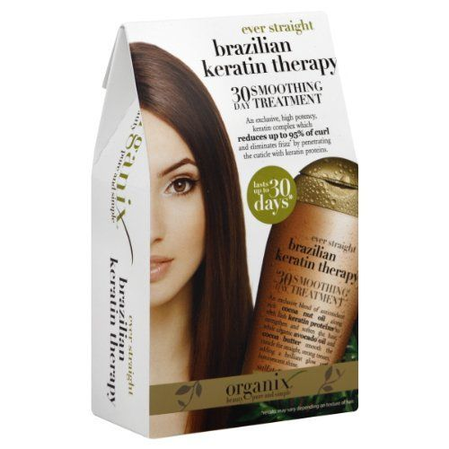 Ever Straight Brazilian Keratin Therapy Organix 30 Day Smoothing Treatment