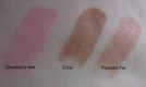 NYX Lipsticks Strawberry Milk, Circe, Pumpkin Pie