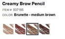 creamy brow pencil brunette medium brown
