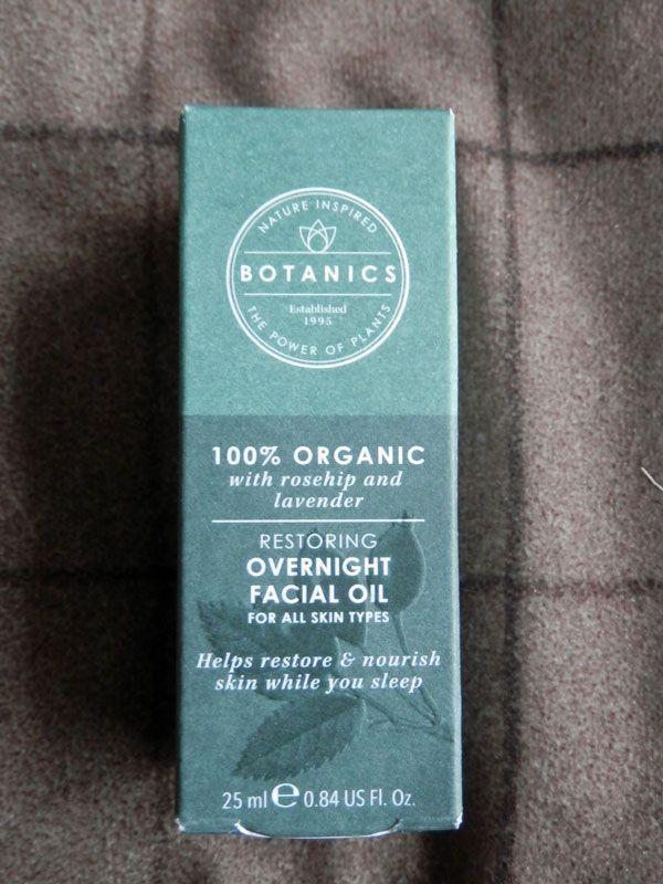 Botanics 100% Organic Restoring Overnight Facial Oil